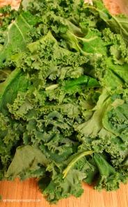 """healthy kale """"au gratin"""""""