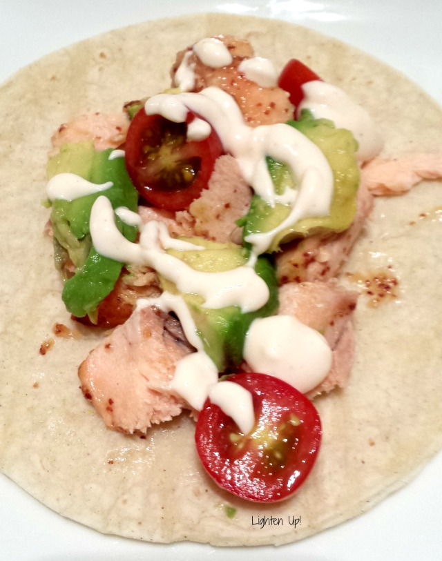 honey lime salmon tacos