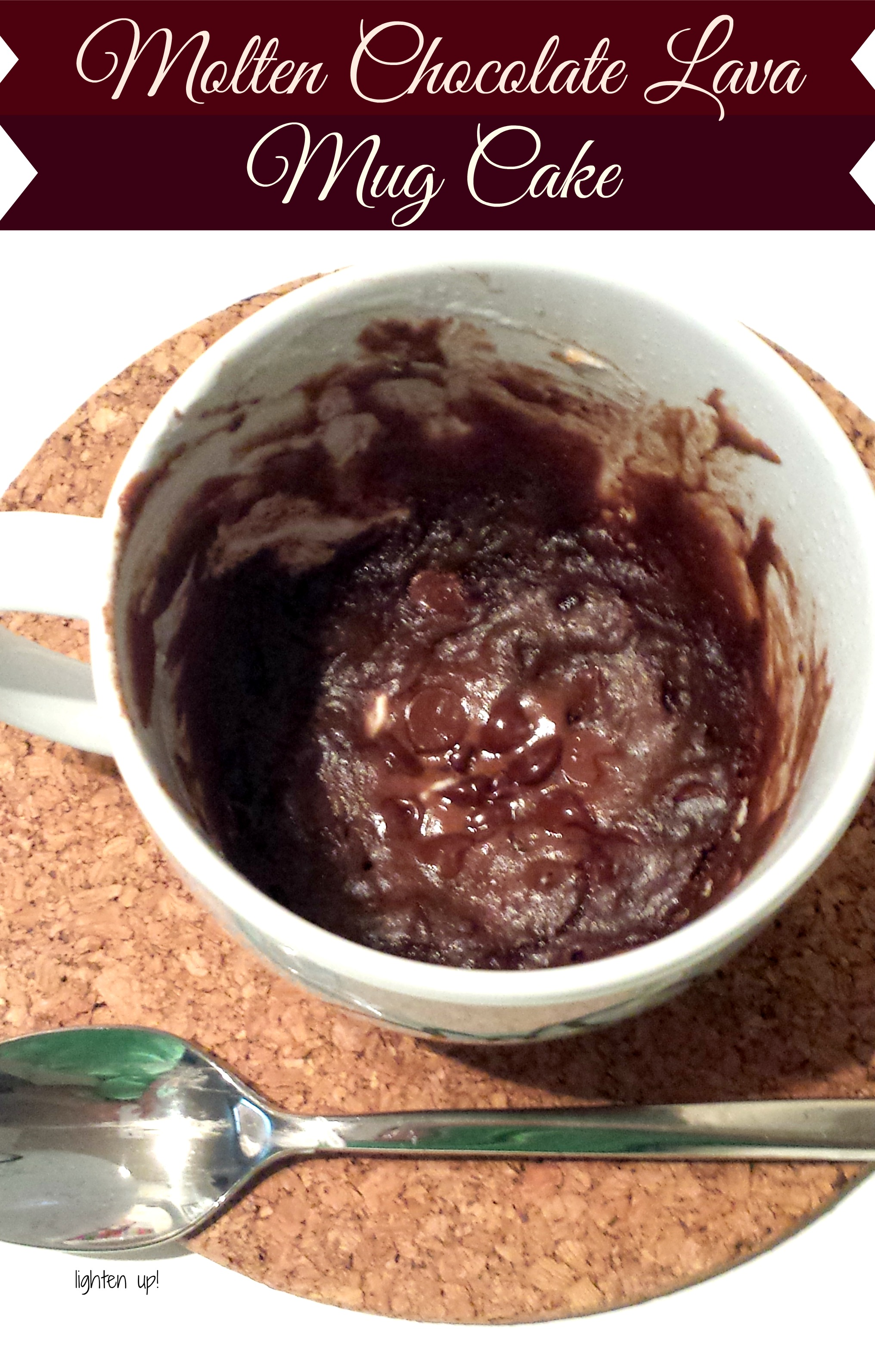 Molten Chocolate Lava Mug Cake | Lighten Up!