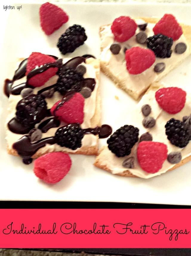 individual chocolate fruit pizzas - Lighten Up!