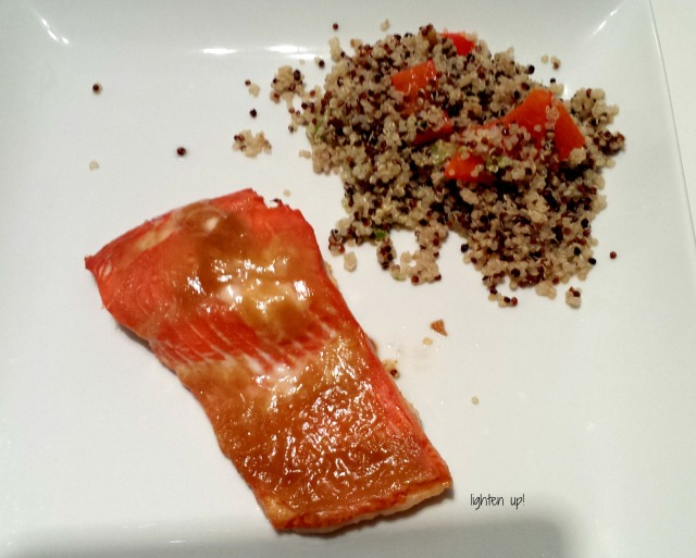 sweet and tangy glazed salmon | Lighten Up