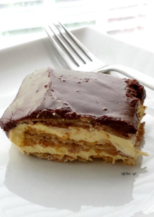 lightened-up no-bake chocolate eclair cake
