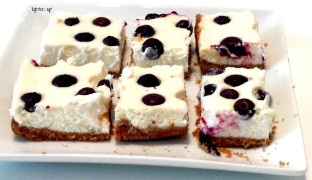 lightened-up lemon blueberry cheesecake bars