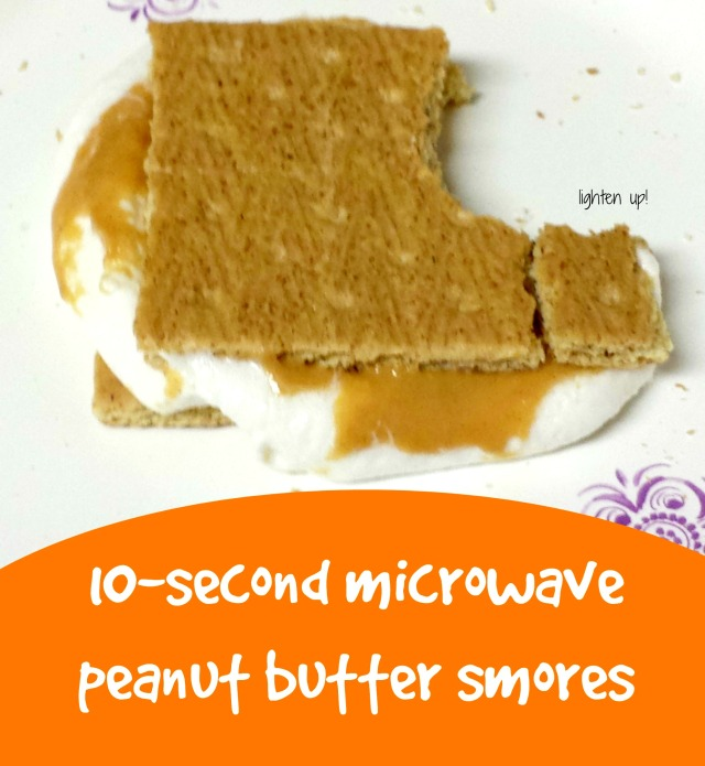 10-second microwave peanut butter smores