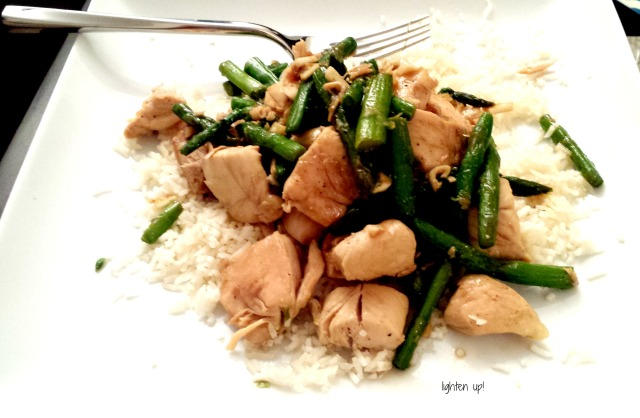 20-minute chicken and asparagus stir fry