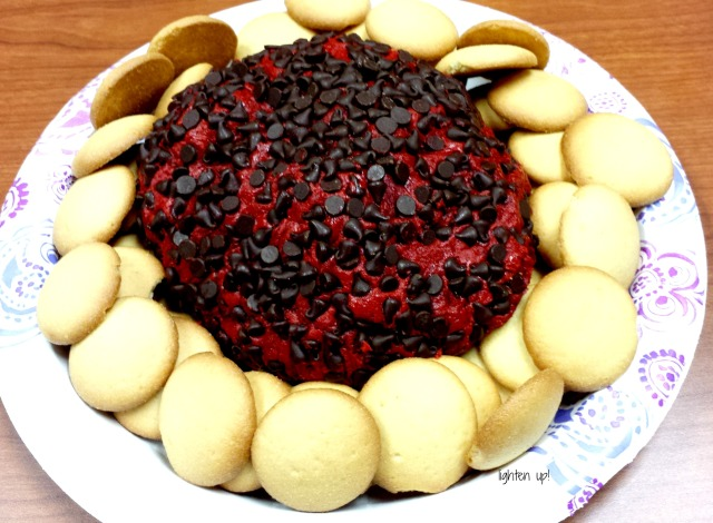 red velvet chocolate chip cheese ball