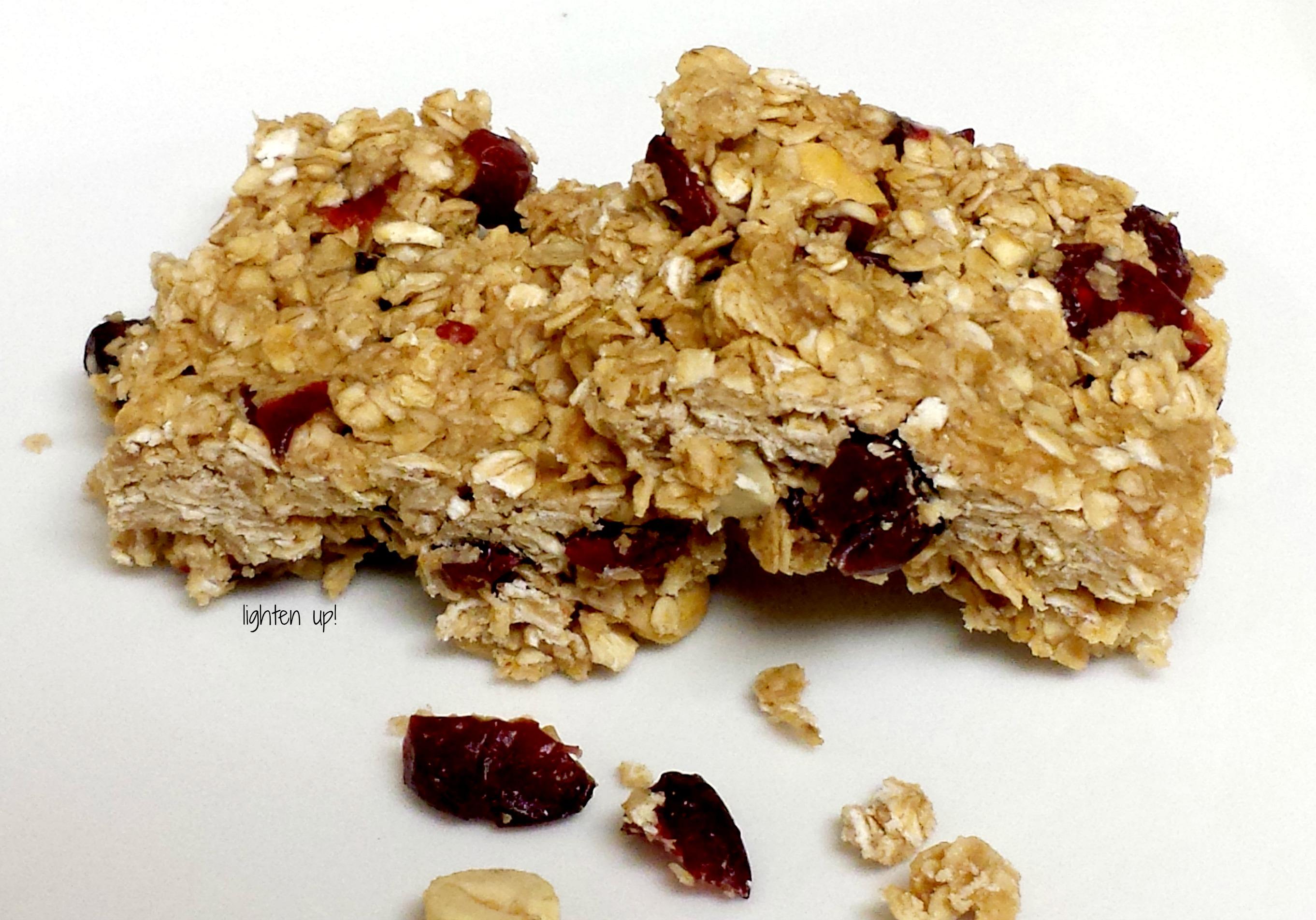 Homemade no-bake granola bars | Lighten Up!